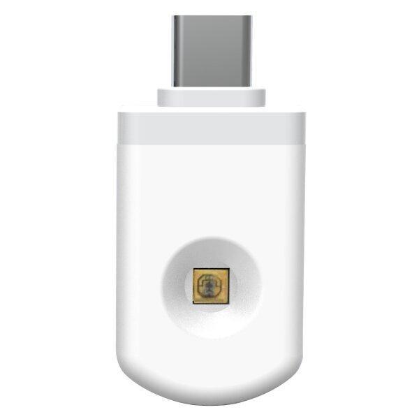 LED21 LED UV germicidní dezinfekční adaptér pro chytré telefony IOS, bílý